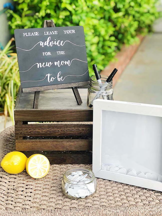 Lemon Themed Baby Shower Advice For The Mom To Be