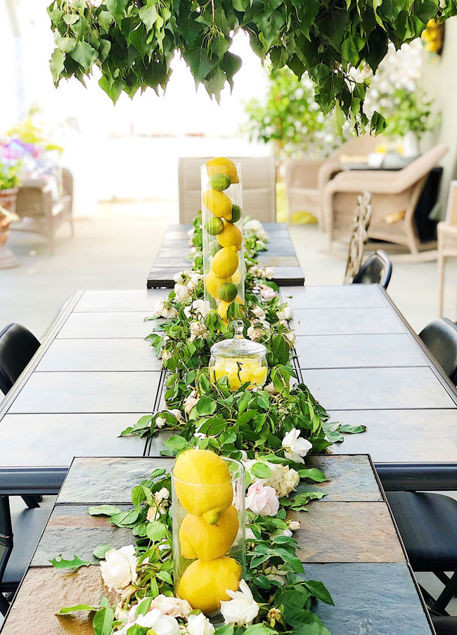 Lemon Themed Baby Shower Table Decorations