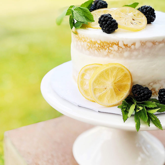 Lemon Themed Baby Shower Cake