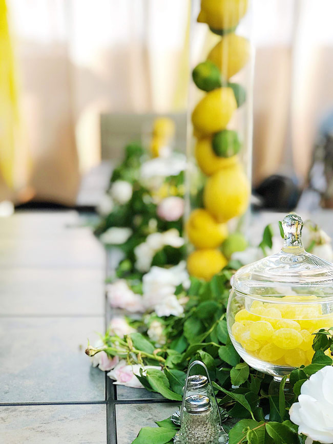 Lemon Themed Baby Shower Centerpieces