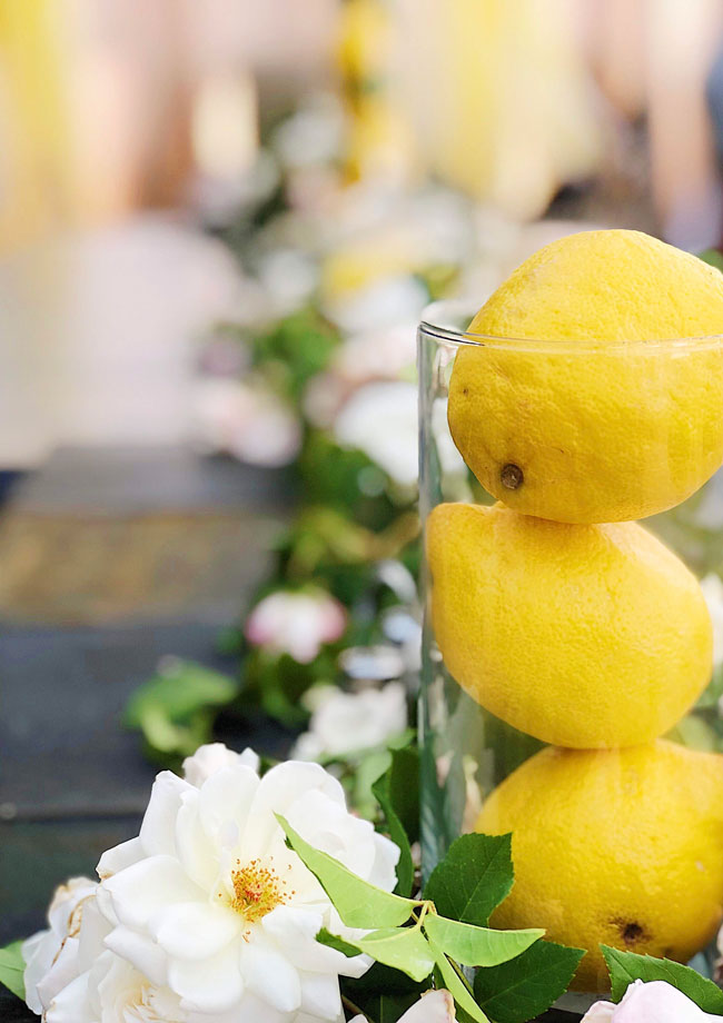 Lemon Themed Baby Shower Centerpiece