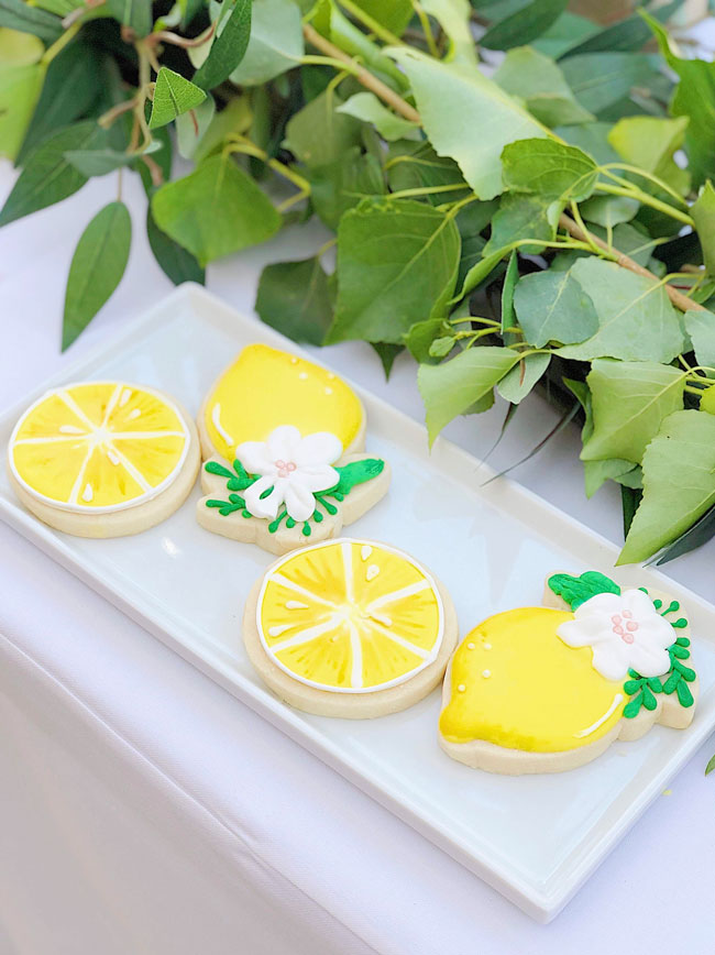 Lemon Themed Baby Shower Cookies