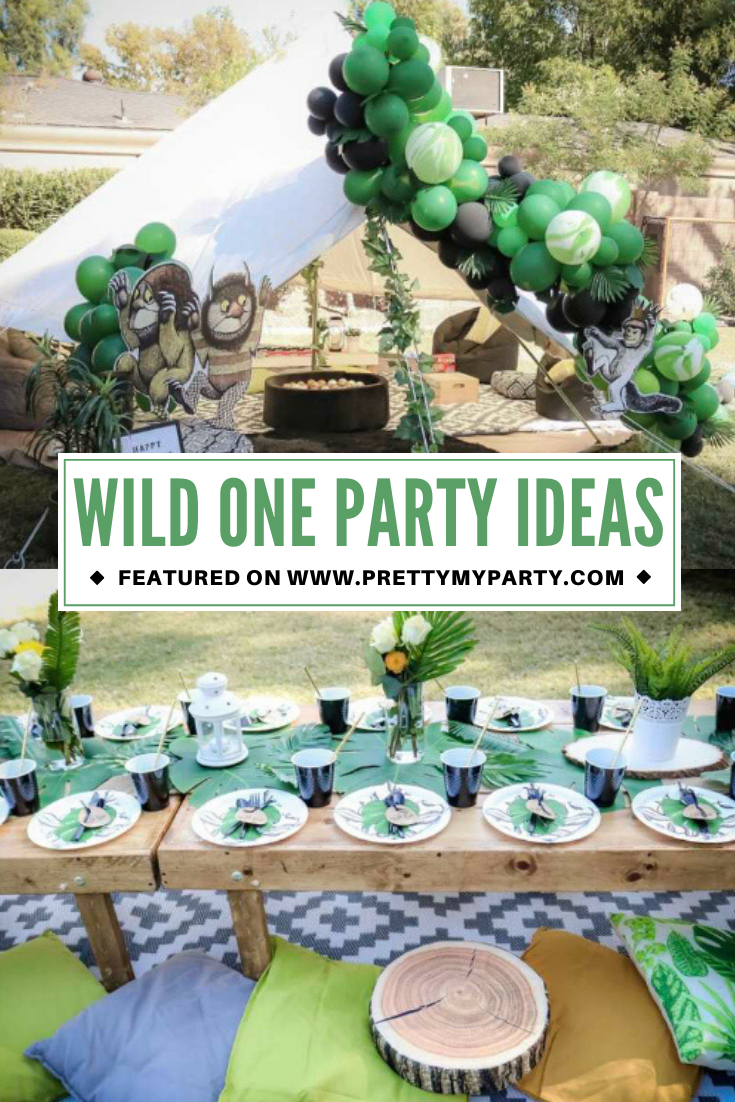 Wild One Theme 1st Birthday on Pretty My Party