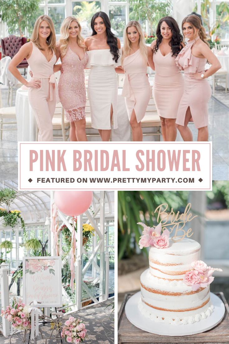 Blush Pink Bridal Shower Ideas on Pretty My Party