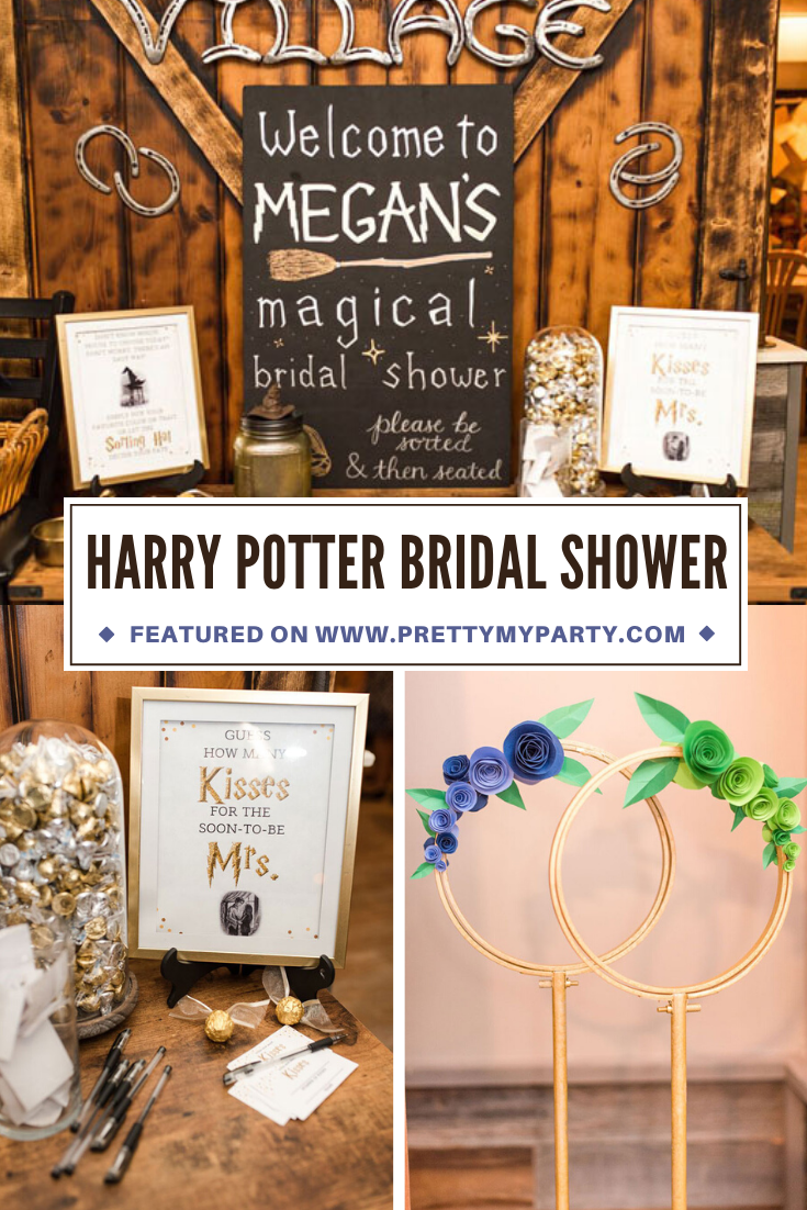 Magical Harry Potter Bridal Shower on Pretty My Party
