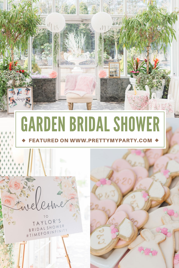 Indoor Garden Party Bridal Shower on Pretty My Party