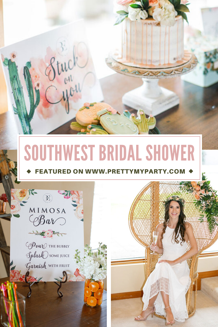 Southwest Inspired Bridal Shower on Pretty My Party