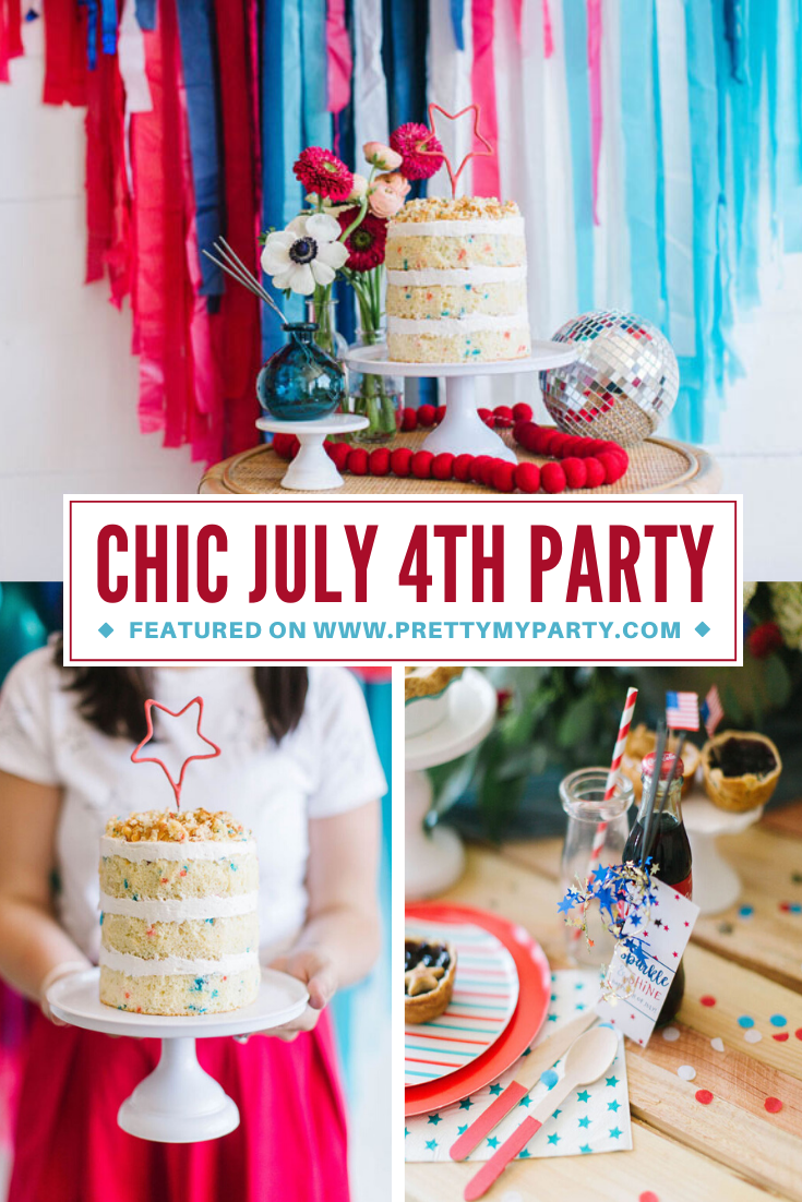 Chic Fourth of July Party on Pretty My Party