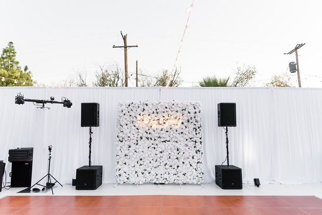 Elegant White Backyard Engagement Party
