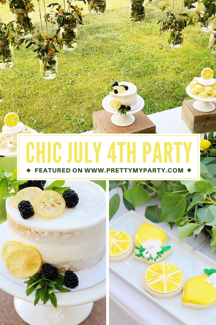 Lemon Themed Baby Shower on Pretty My Party