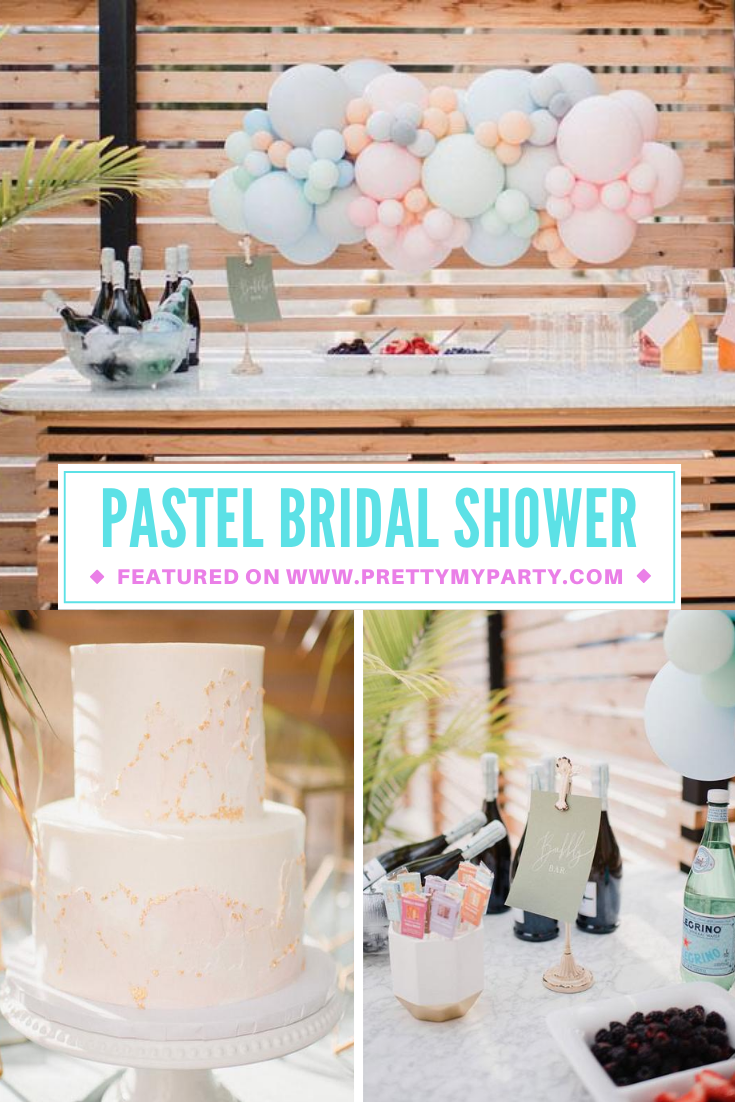 Clean Pastel Outdoor Bridal Shower on Pretty My Party