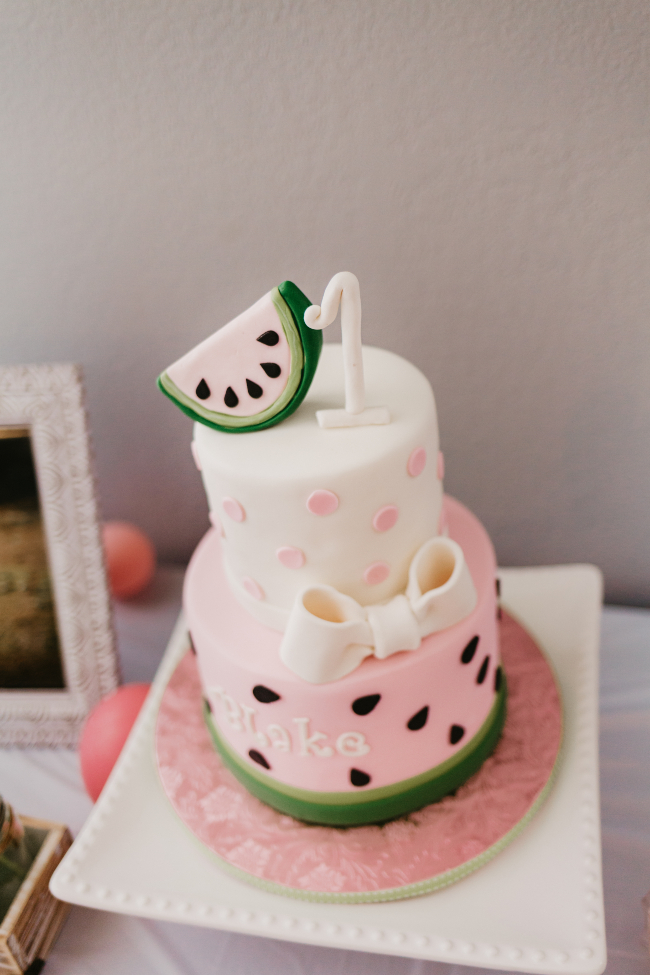 One in a Melon birthday cake
