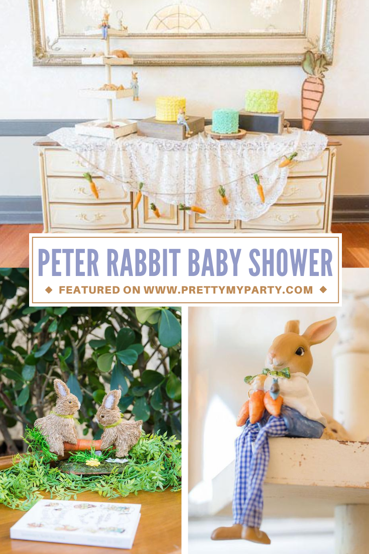 Peter Rabbit Inspired Baby Shower on Pretty My Party