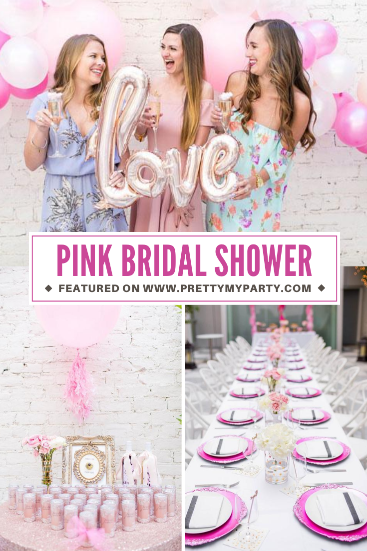 Girly Pink Bridal Shower on Pretty My Party