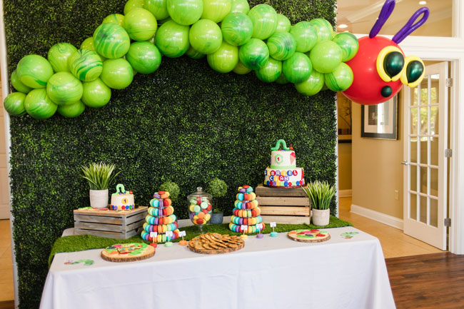 Very Hungry Caterpillar Party Dessert Table
