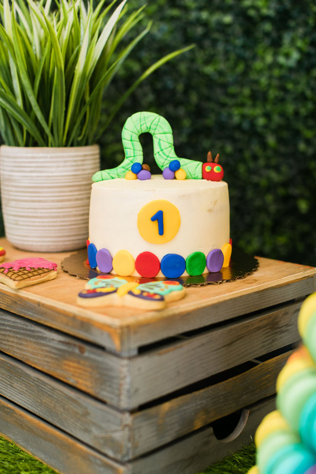 Very Hungry Caterpillar Party Smash Cake