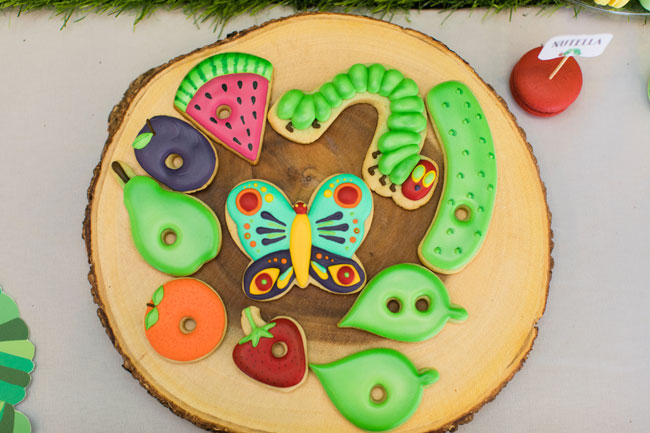 Very Hungry Caterpillar Party Cookies