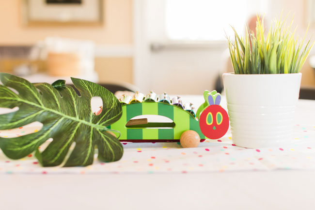 Very Hungry Caterpillar Themed Party Centerpieces