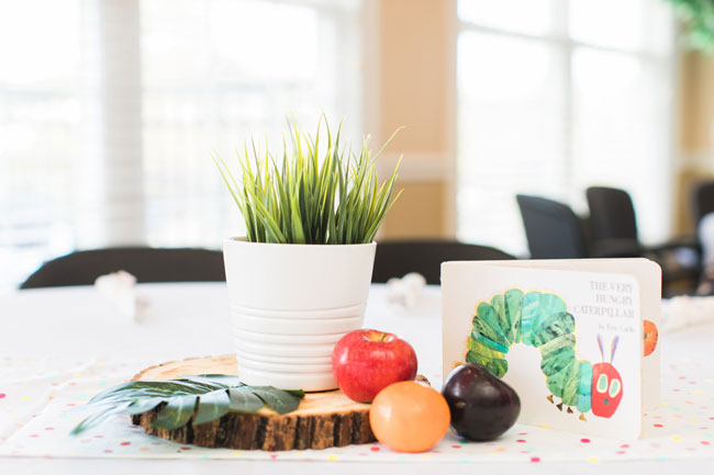 Very Hungry Caterpillar Themed Party Centerpiece