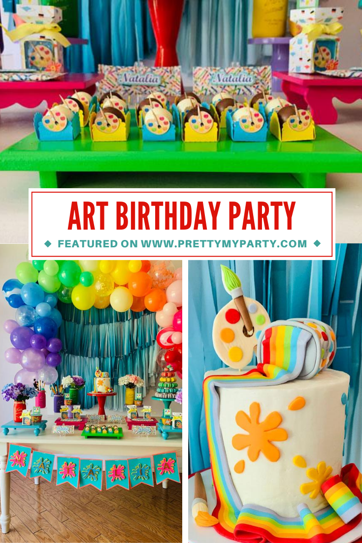 Colorful Art Party on Pretty My Party