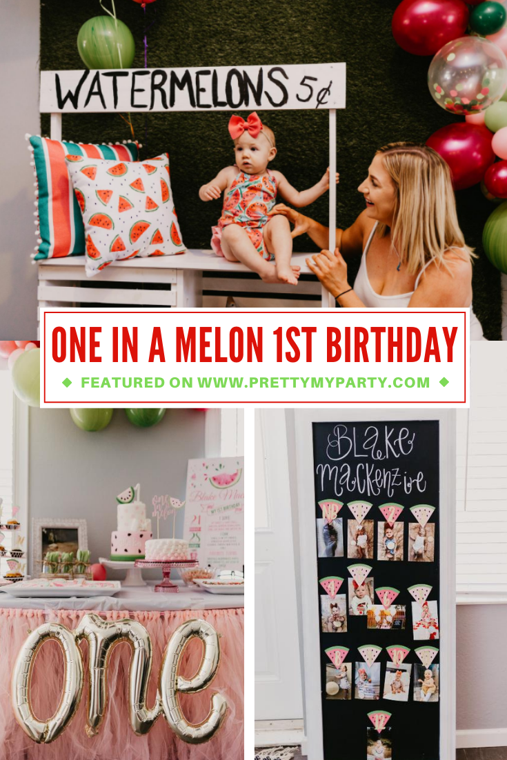 One in a Melon Birthday Party on Pretty My Party