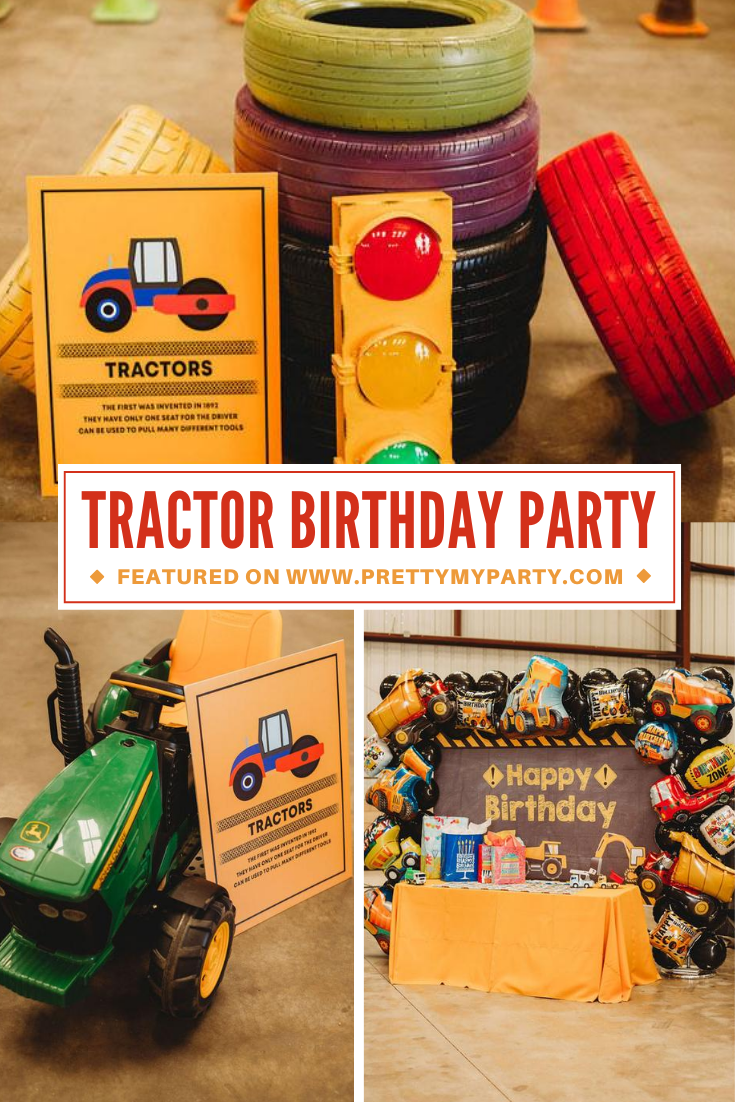 Tractor Themed Birthday Party on Pretty My Party