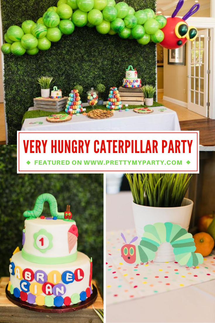 Very Hungry Caterpillar Party on Pretty My Party