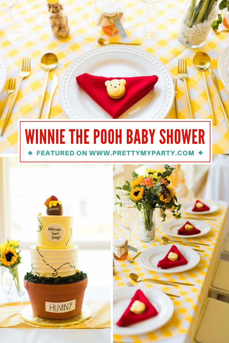 Winnie the Pooh Baby Shower on Pretty My Party