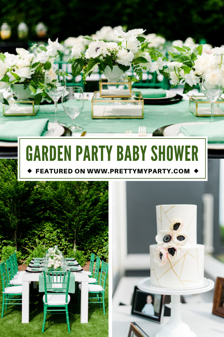 Beautiful Garden Party Baby Shower on Pretty My Party