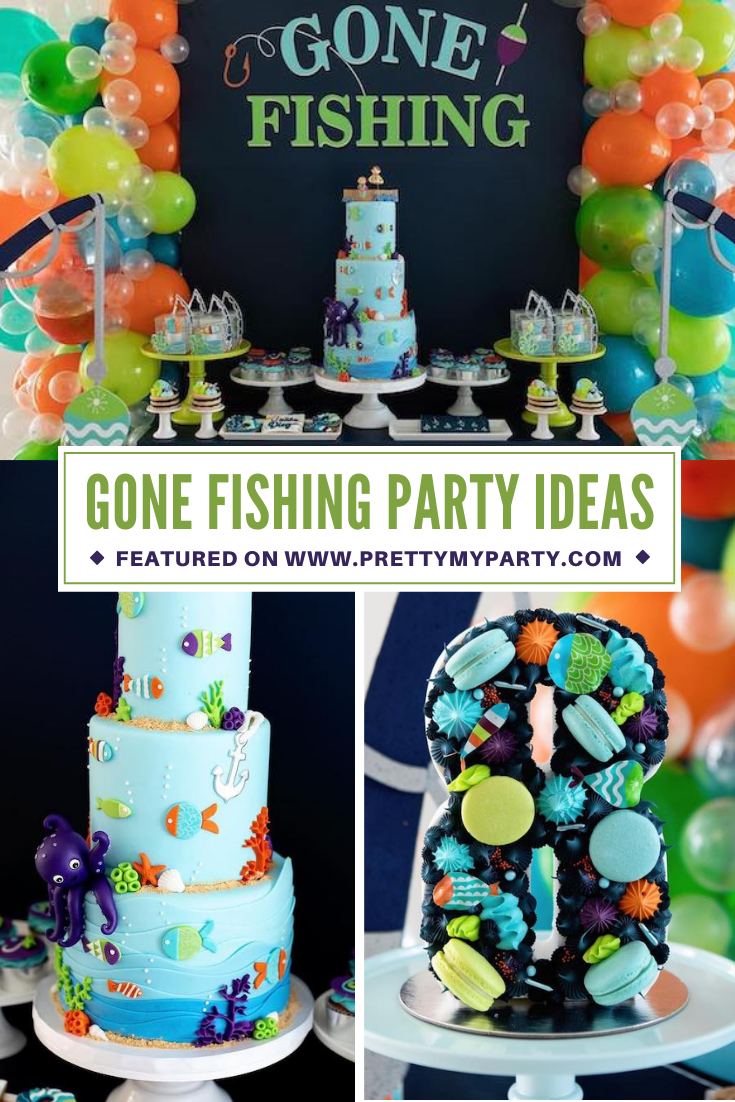 Gone Fishing Birthday Party on Pretty My Party