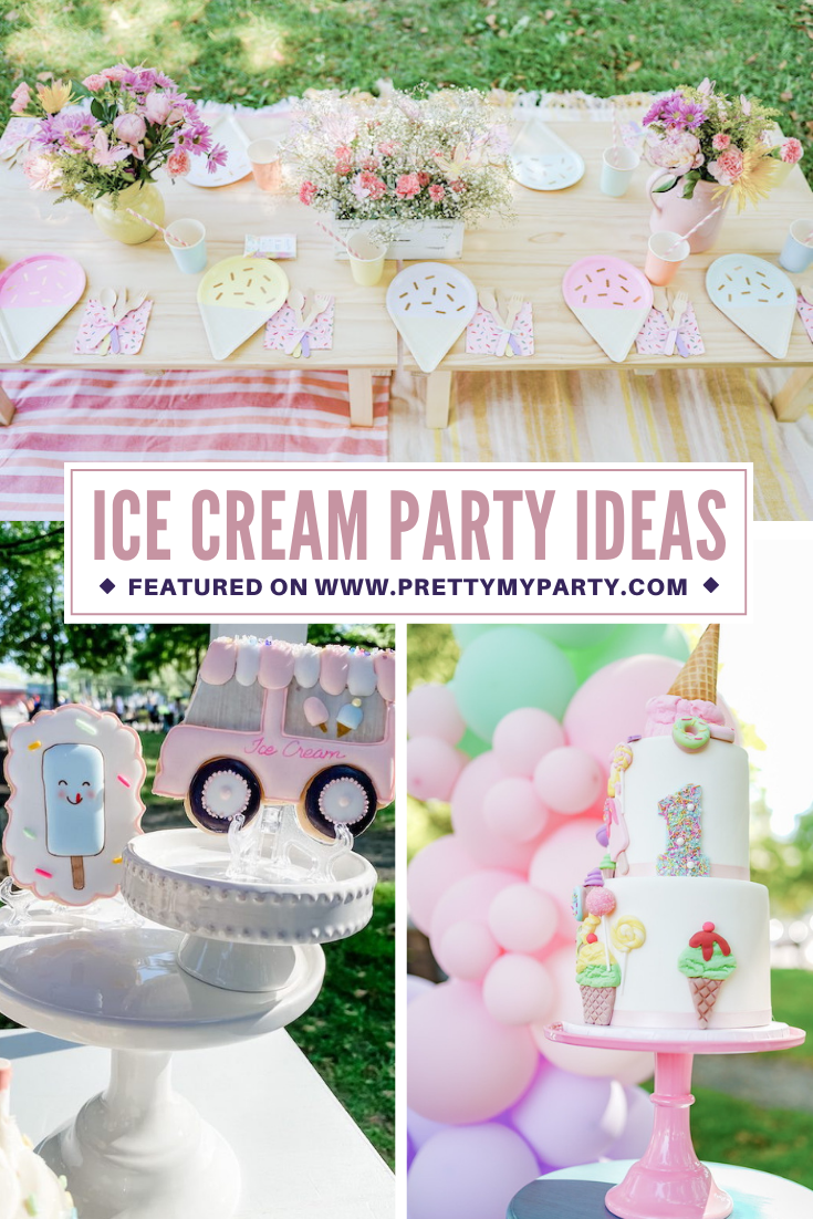Ice Cream 1st Birthday Picnic on Pretty My Party