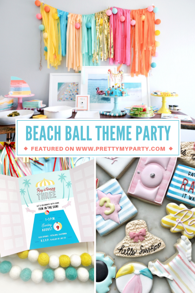 Palms Springs Beach Ball Birthday Bash on Pretty My Party