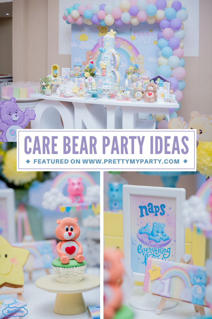 Pastel Care Bear Birthday Party on Pretty My Party