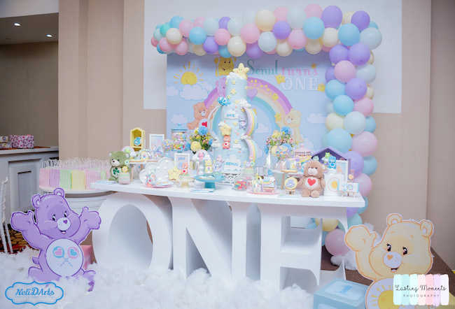Pastel Care Bear Birthday Party