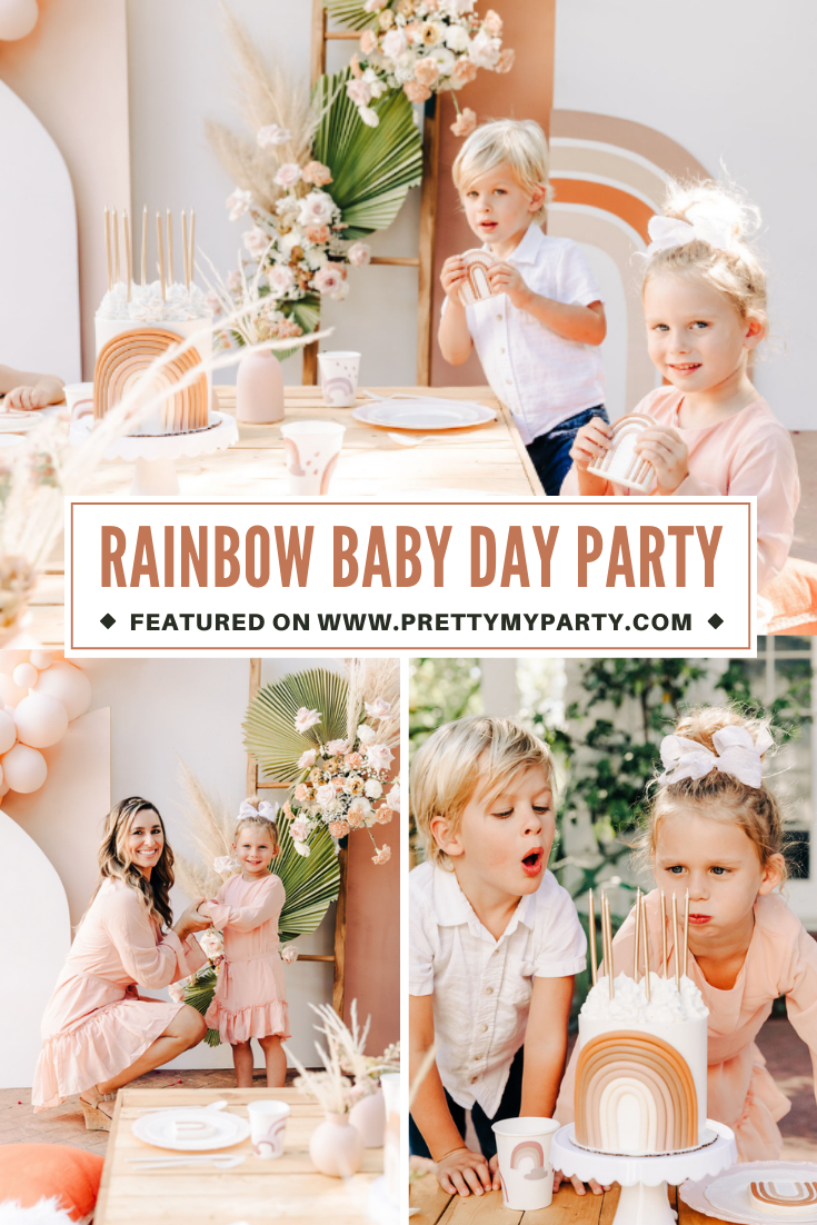 Rainbow Baby Day Party on Pretty My Party