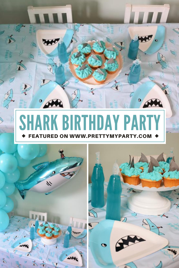 Fin-tastic Shark Birthday Party on Pretty My Party