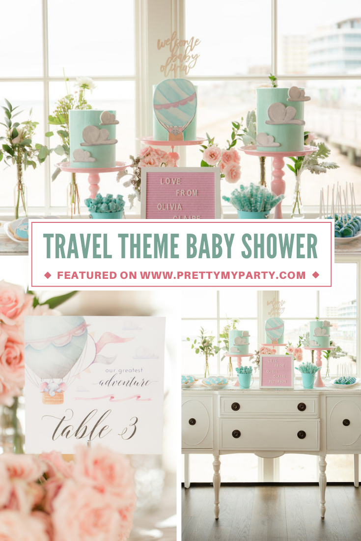 Travel Themed Baby Shower Celebration on Pretty My Party