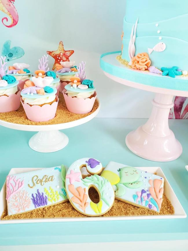 Under the Sea Birthday Desserts