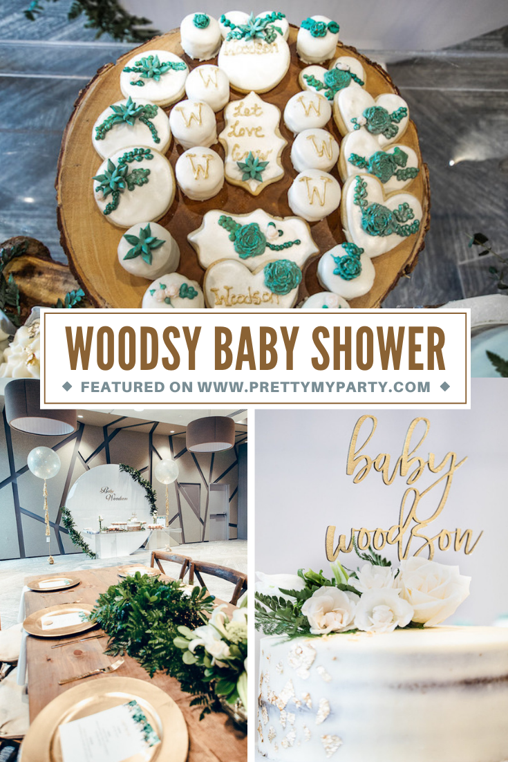 Modern Woodsy Themed Baby Shower on Pretty My Party