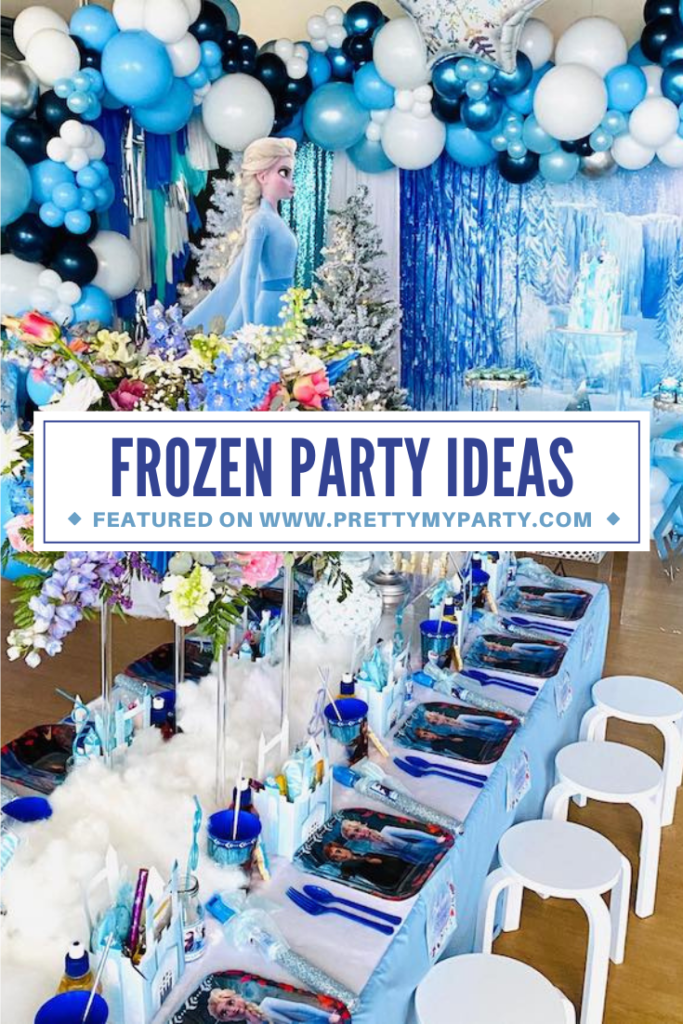 Disney Frozen Themed Party on Pretty My Party