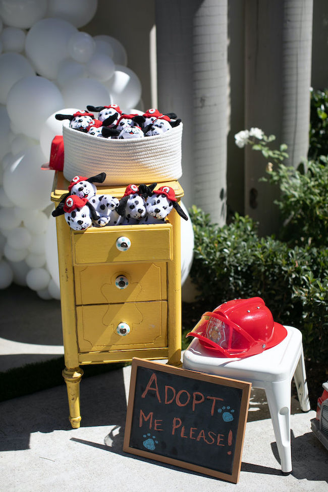 Firetruck Themed 1st Birthday Party