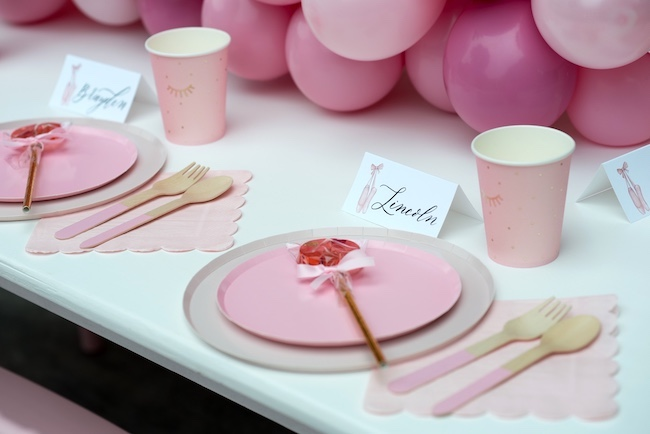 Princess Ballerina Birthday Party on Pretty My Party