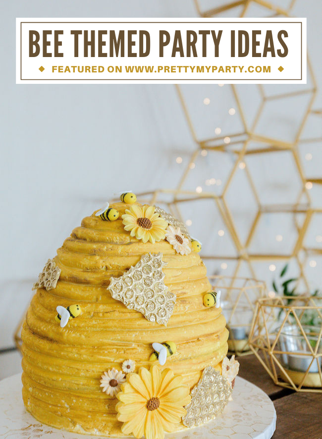Bee Themed 1st Birthday Party on Pretty My Party
